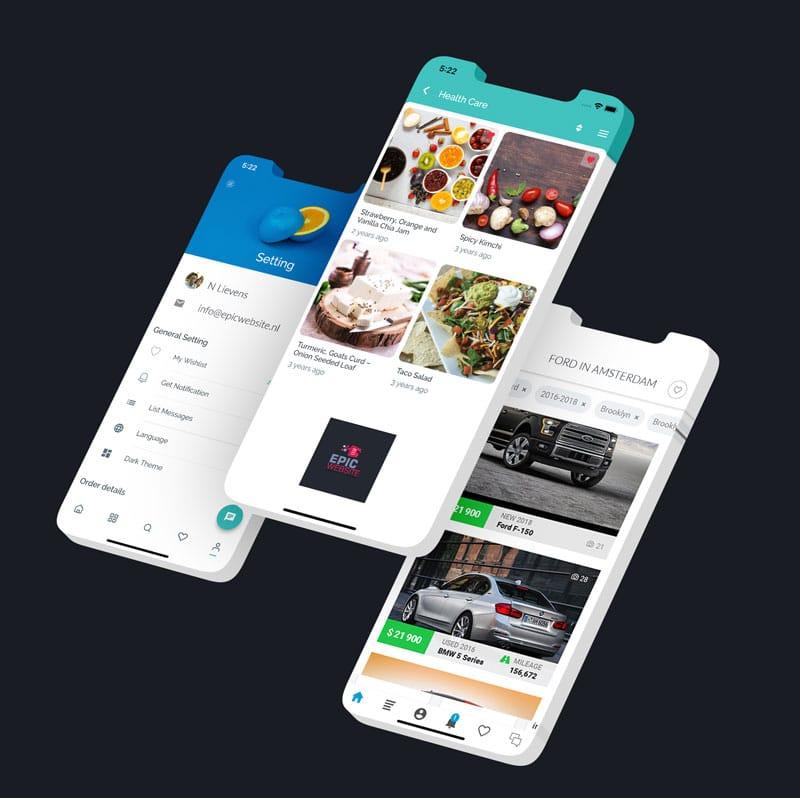 Native app ontwikkelaar epicwebsite