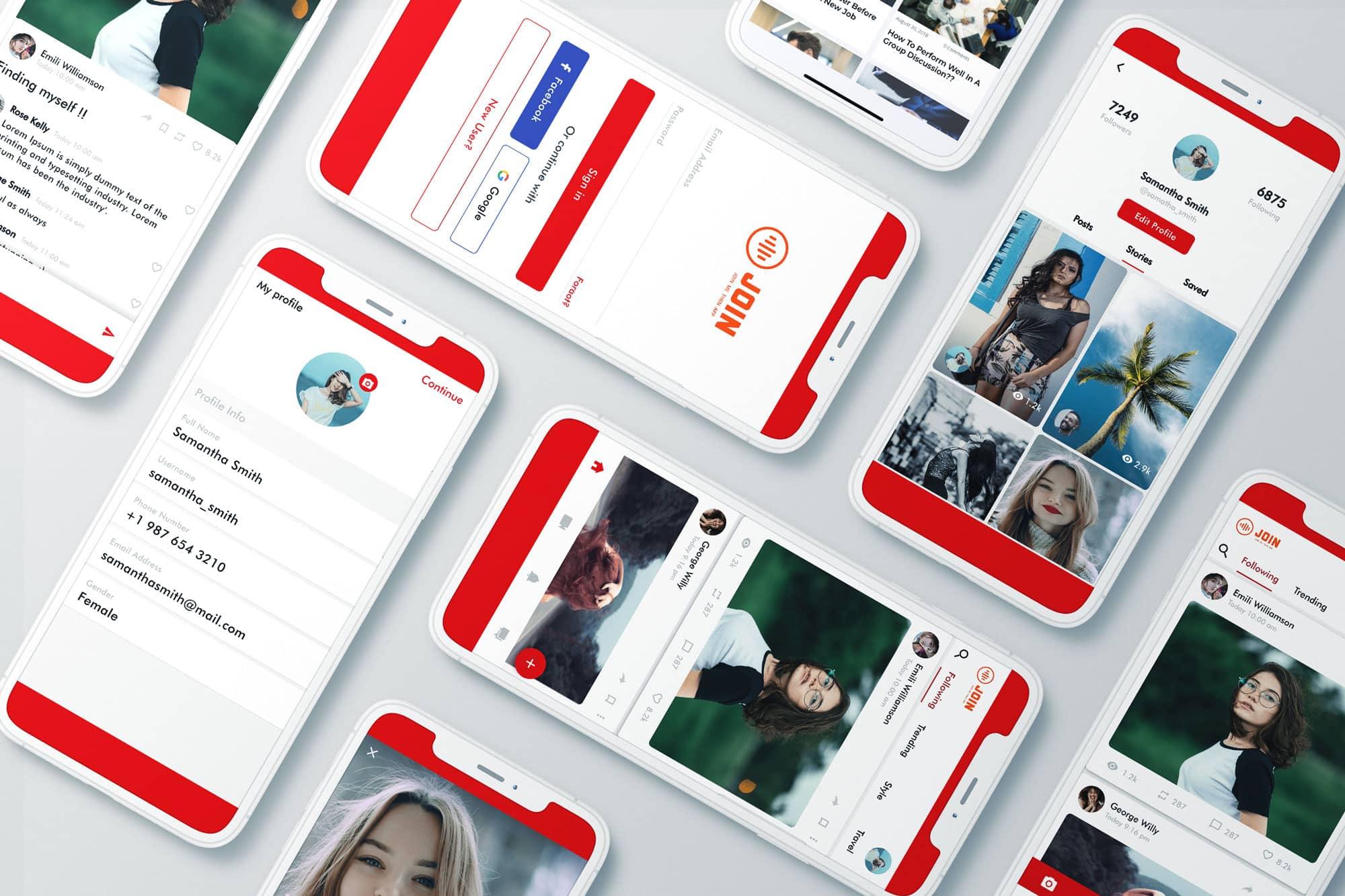 Social media app ontwikkelaar header