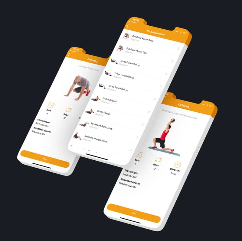 Epicwebsite personal trainer app