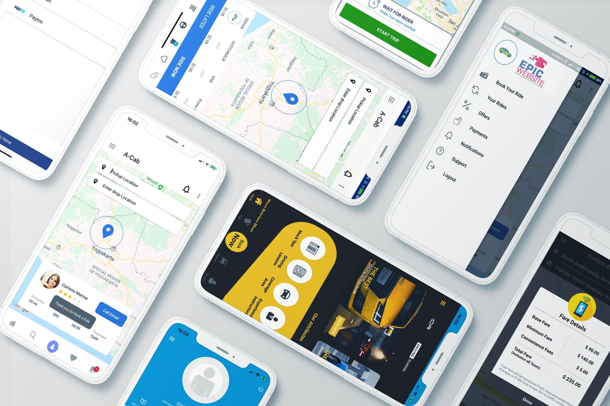 Taxi App ontwikkelaar slider foto