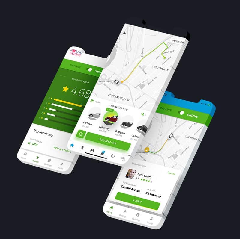App voor taxi voorbeeld