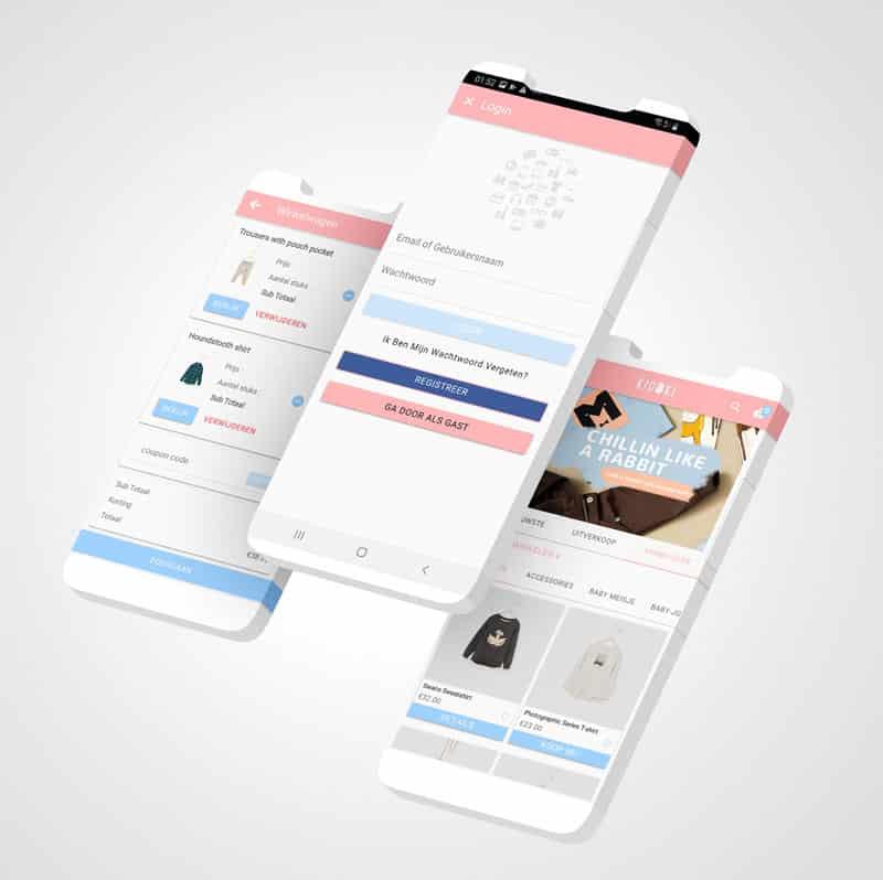 Epicwebsite, kodoki kinderkleding app