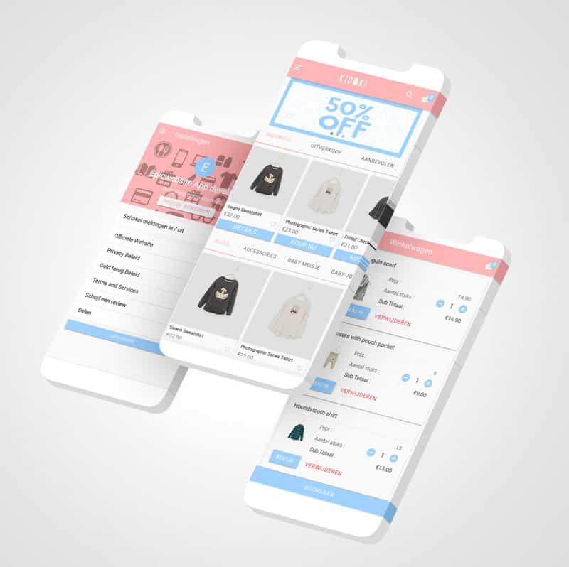 Epicwebsite, kidoki Woocommerce app