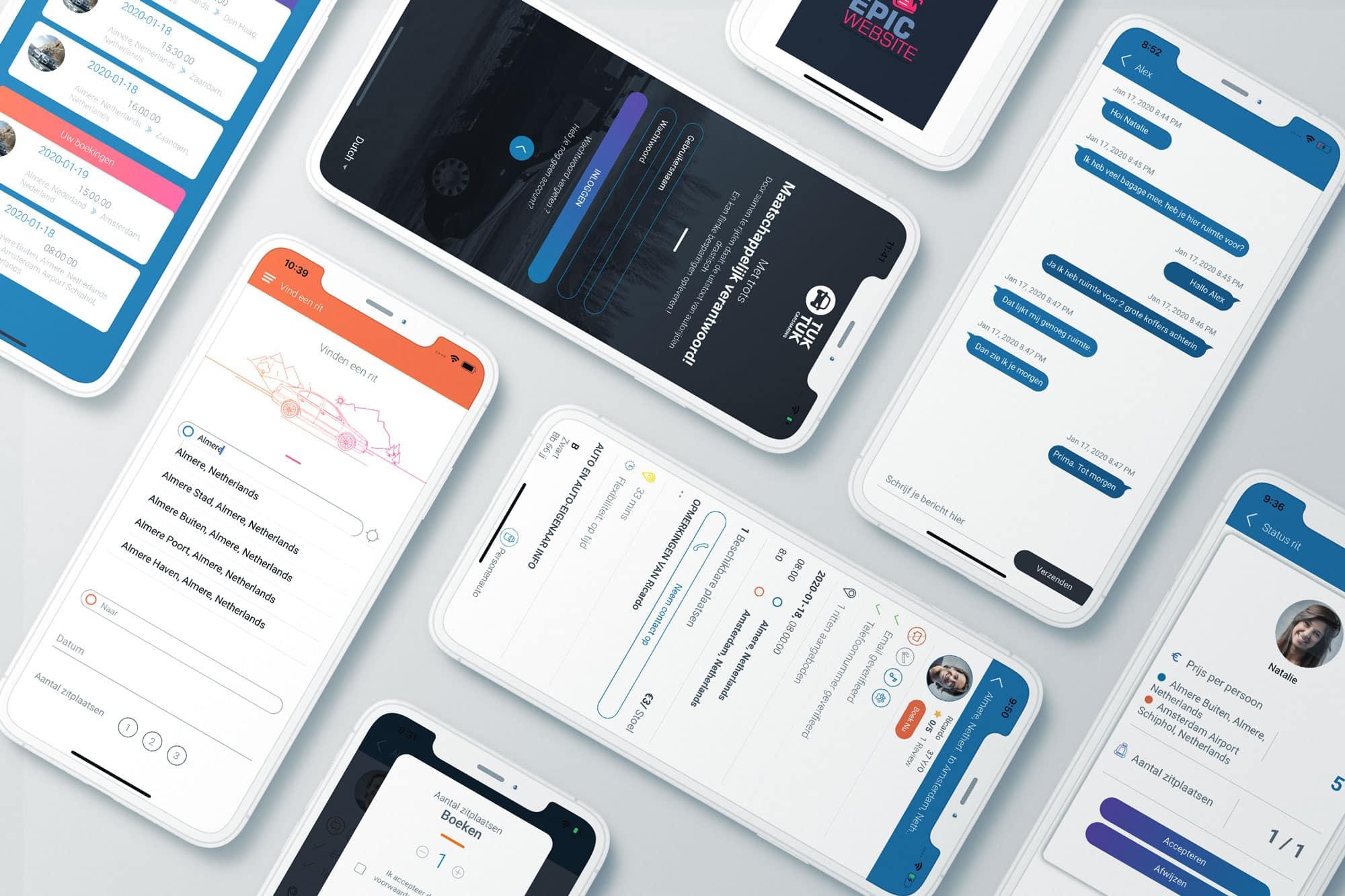 Autodelen app ontwikkelaar slider foto