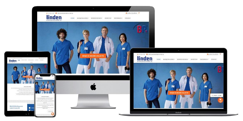 Epicwebsite maakt webshop voor linden bedrijfs kleding