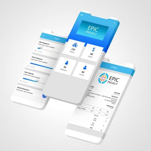 Werkbon app voorbeeld van Epic website